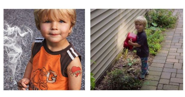 Tattooed, Cigar-Smoking Toddler Terrorizes Neighborhood Man